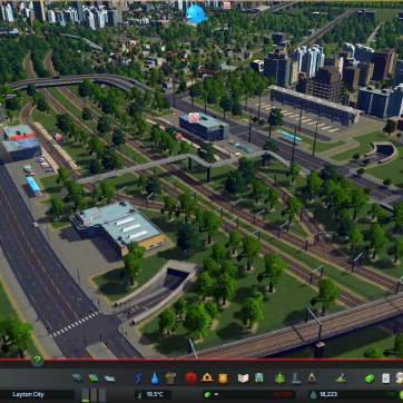 An example of a suburbia transit hub. One station has metro rail the other inter city. Also a bus station, taxi rank and parking building. The metro rail station is currently deactivated