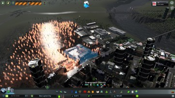 Choppers and trucks working hard