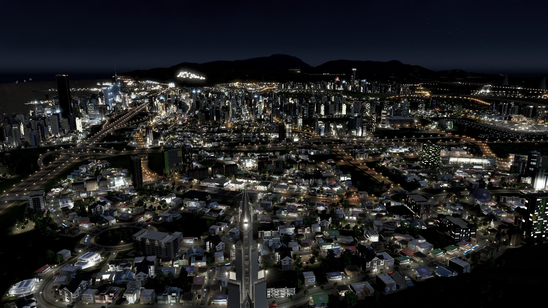 #CitiesSkylines Night Shots an Art of Beauty