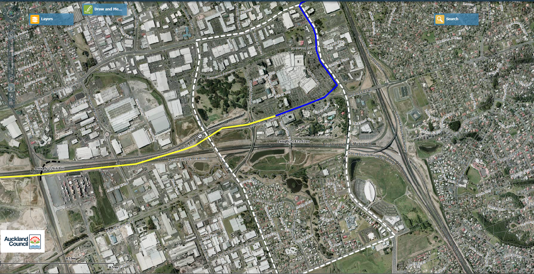 Botany Sky Train Line Revised Manukau Loop