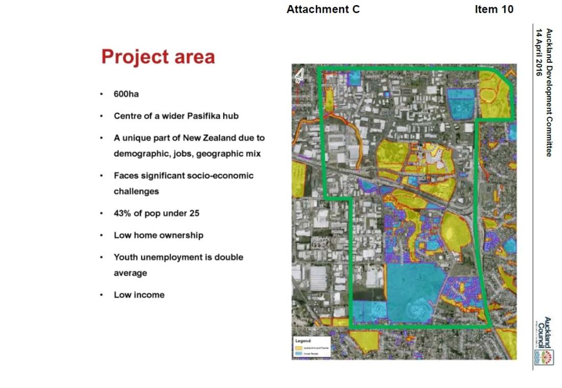 Manukau Project area