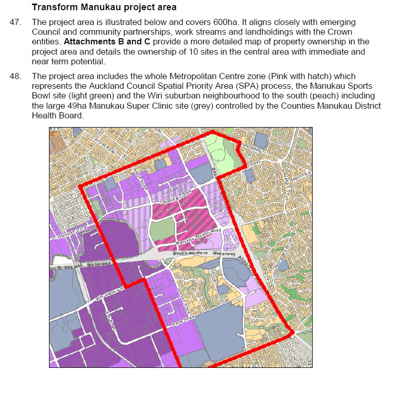 Manukau Transform Project area