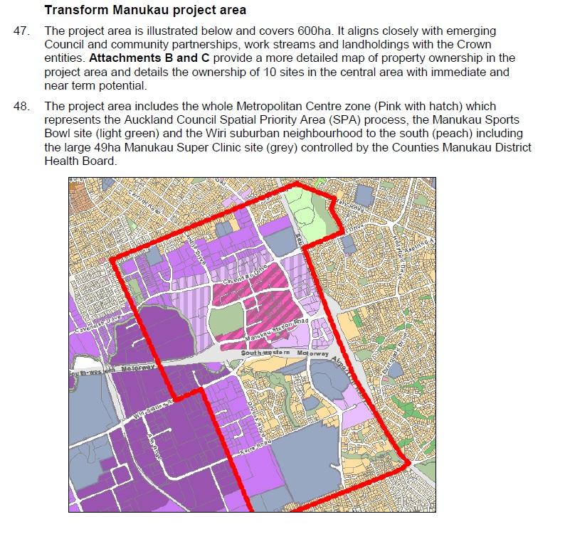 Manukau Transform Project area