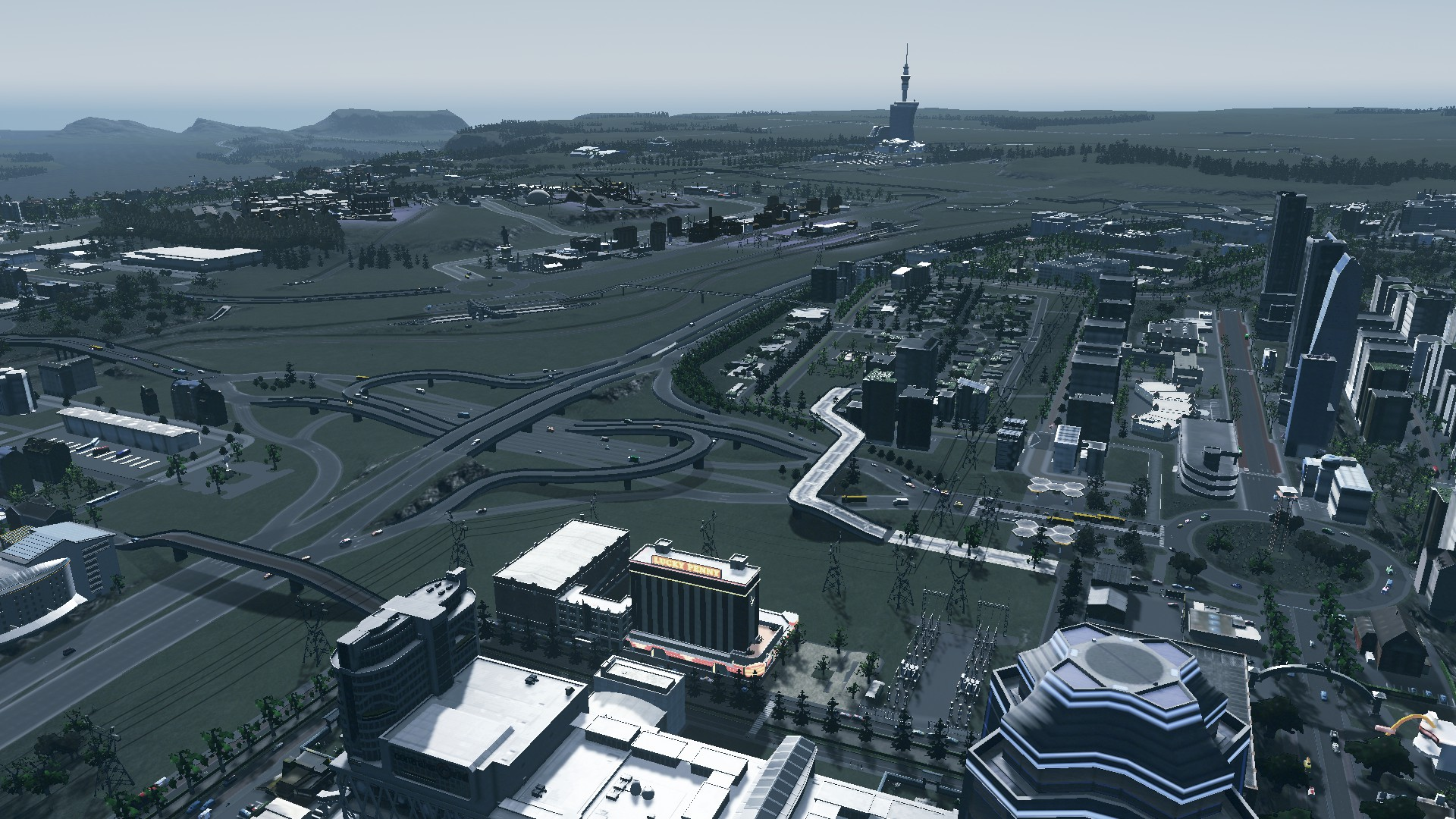 Putting Urban Geography to the test in: Building a City Centre TAKES TIME – LOTS OF TIME. #CitiesSkylines