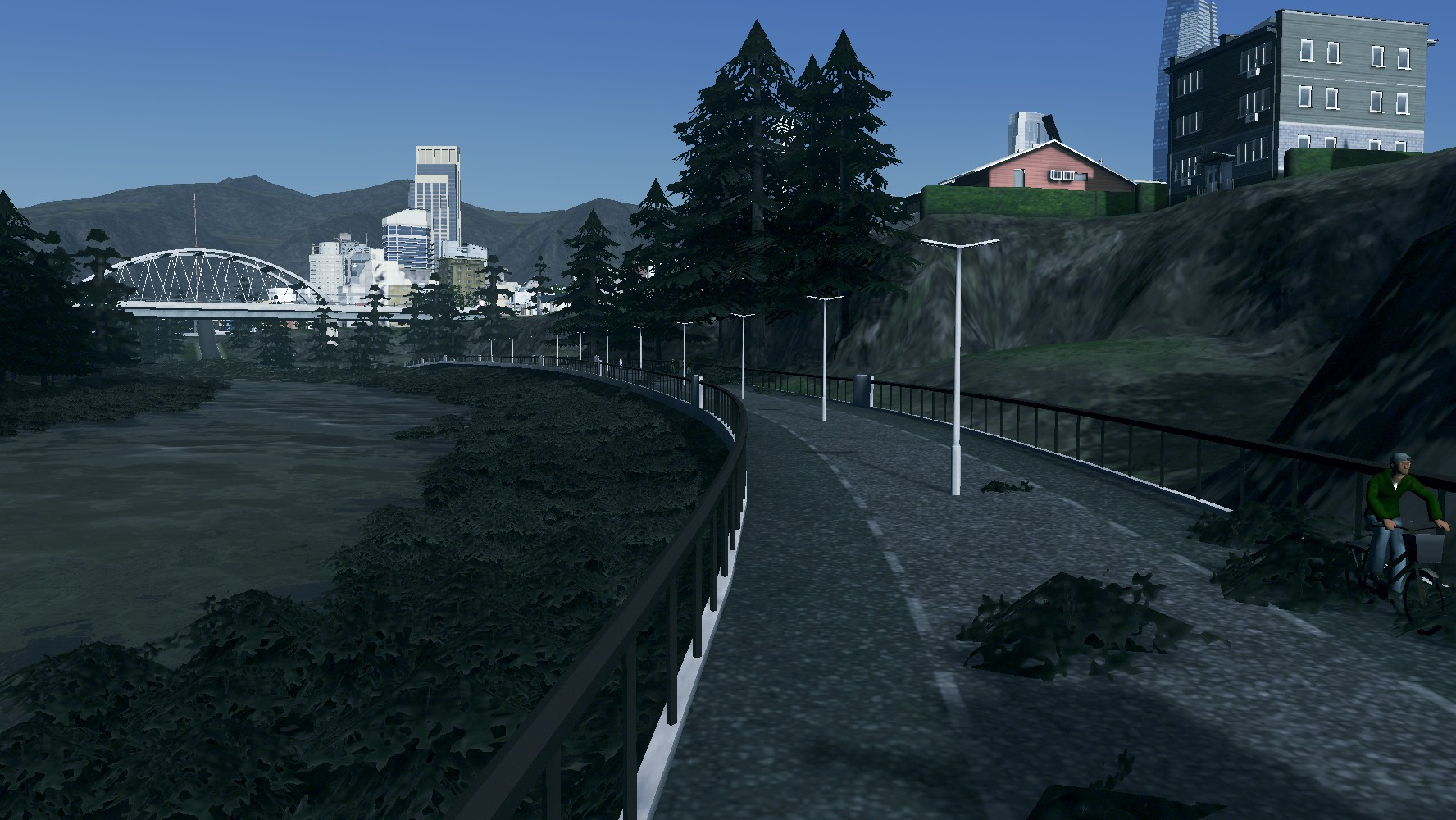 Building our First-Ever Cycle Super Highway in #CitiesSkylines (and taking a Tour)